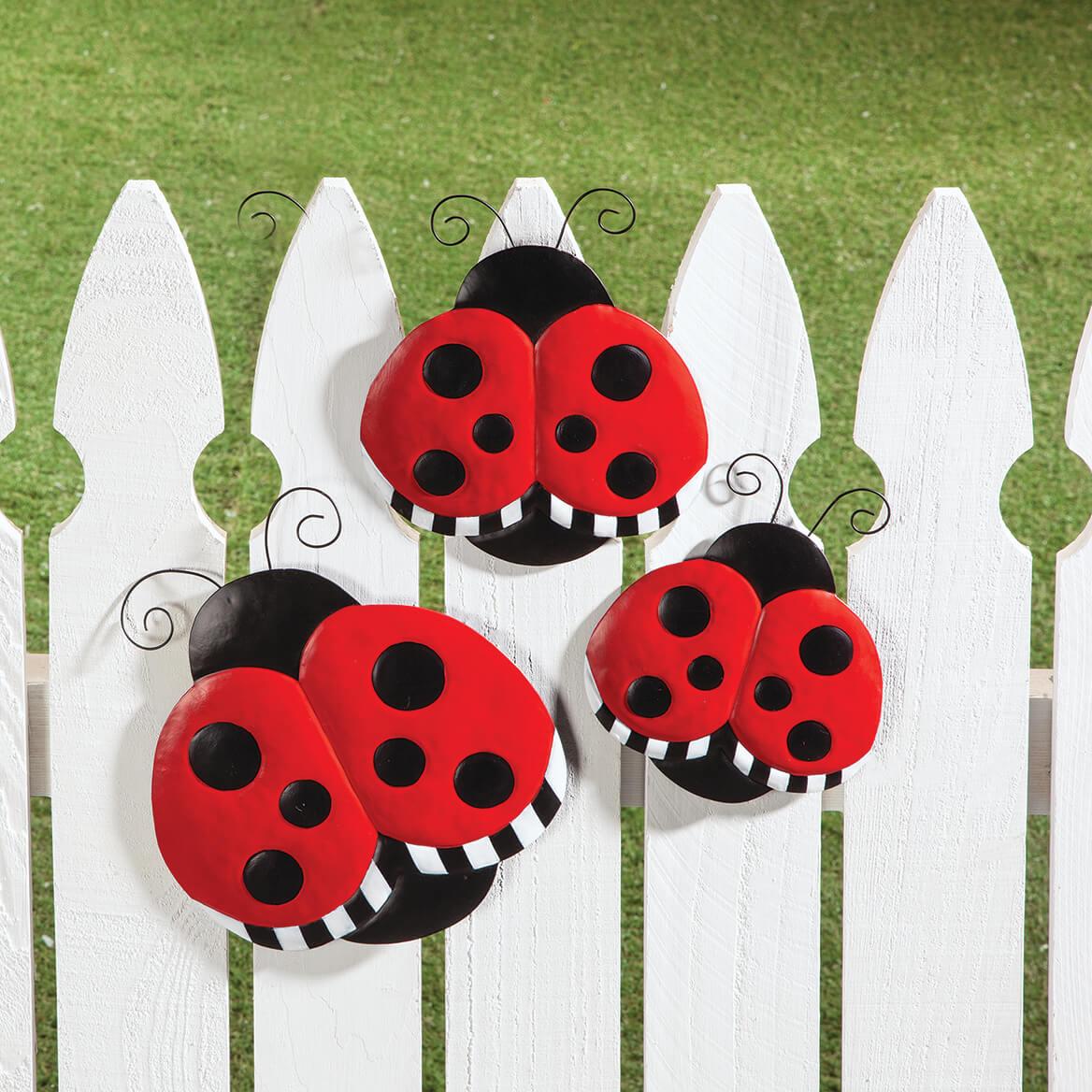 Metal Ladybug Hangers, Set of 3 by Fox River™ Creations-369031