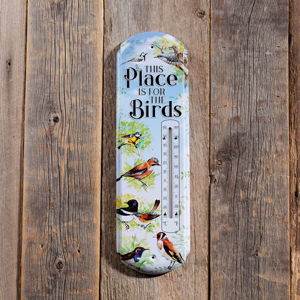 This Place is for the Birds Metal Thermometer-369062