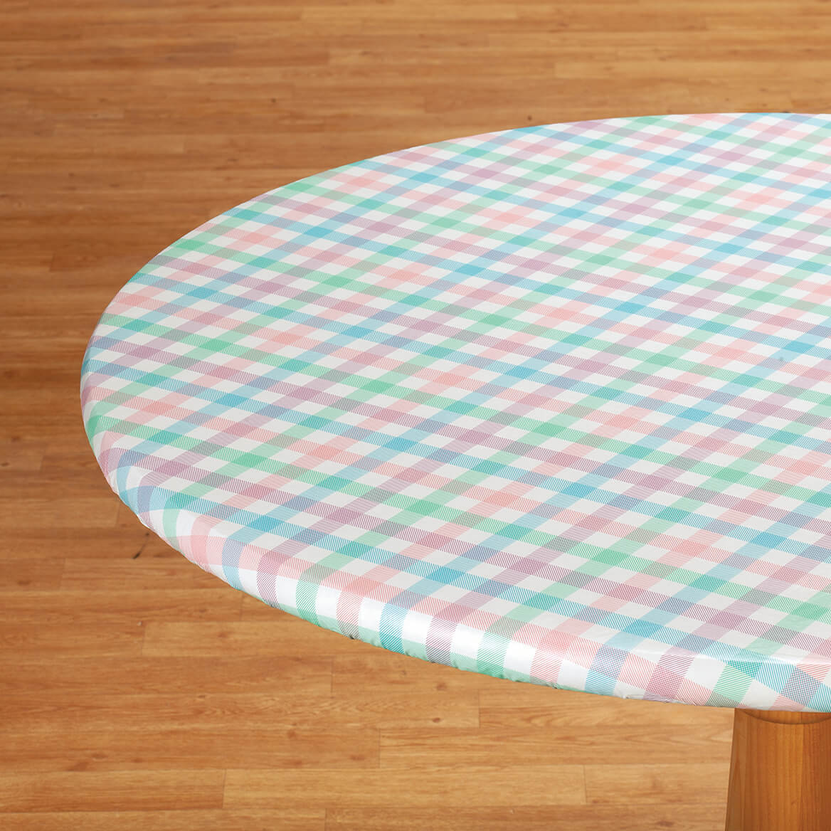 Spring Breeze Checked Vinyl Elasticized Tablecovers-369145