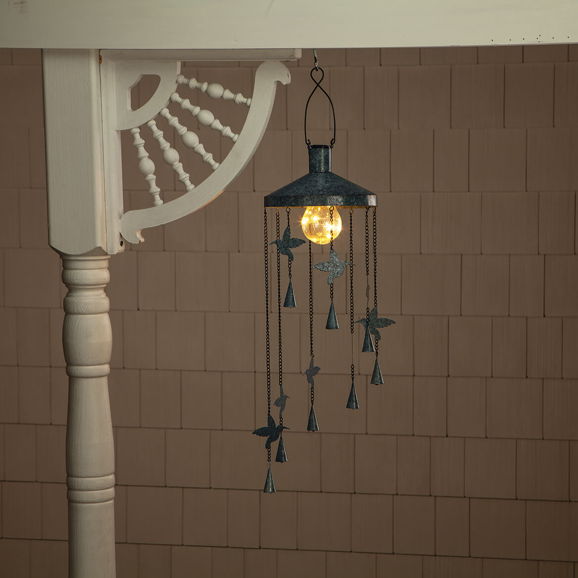 Hummingbird Wind Chime with Solar Light-369162