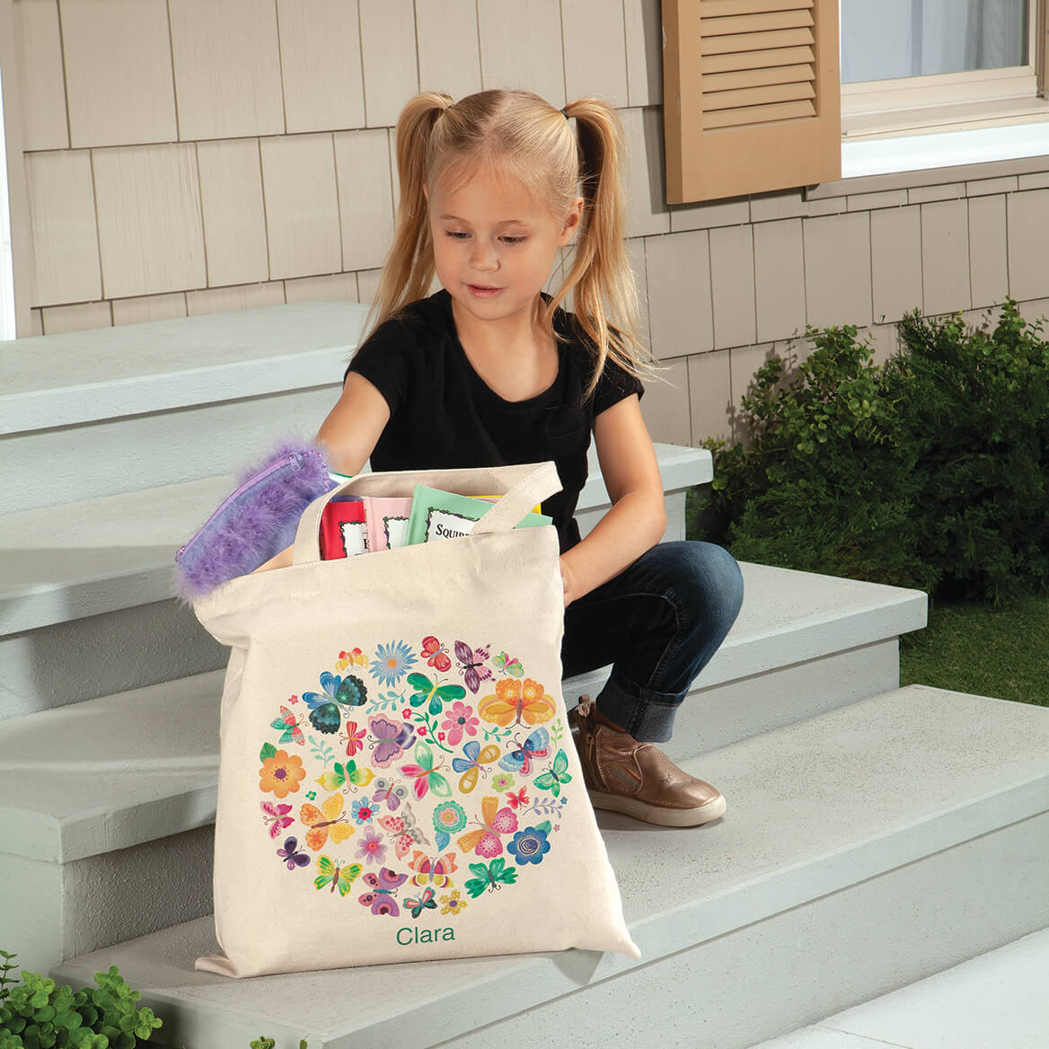 Personalized Butterflies Children's Tote-369271