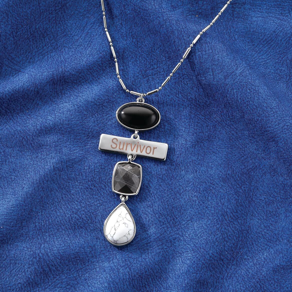 Personalized Black Agate Engravable Bar Necklace-369323