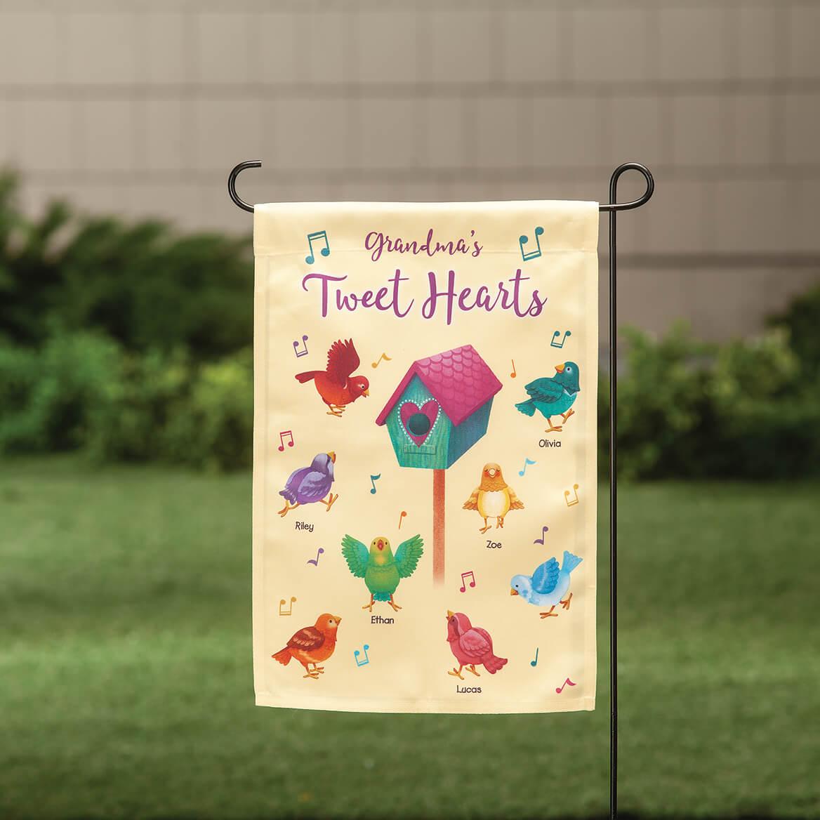 Personalized Tweet Hearts Garden Flag-369344