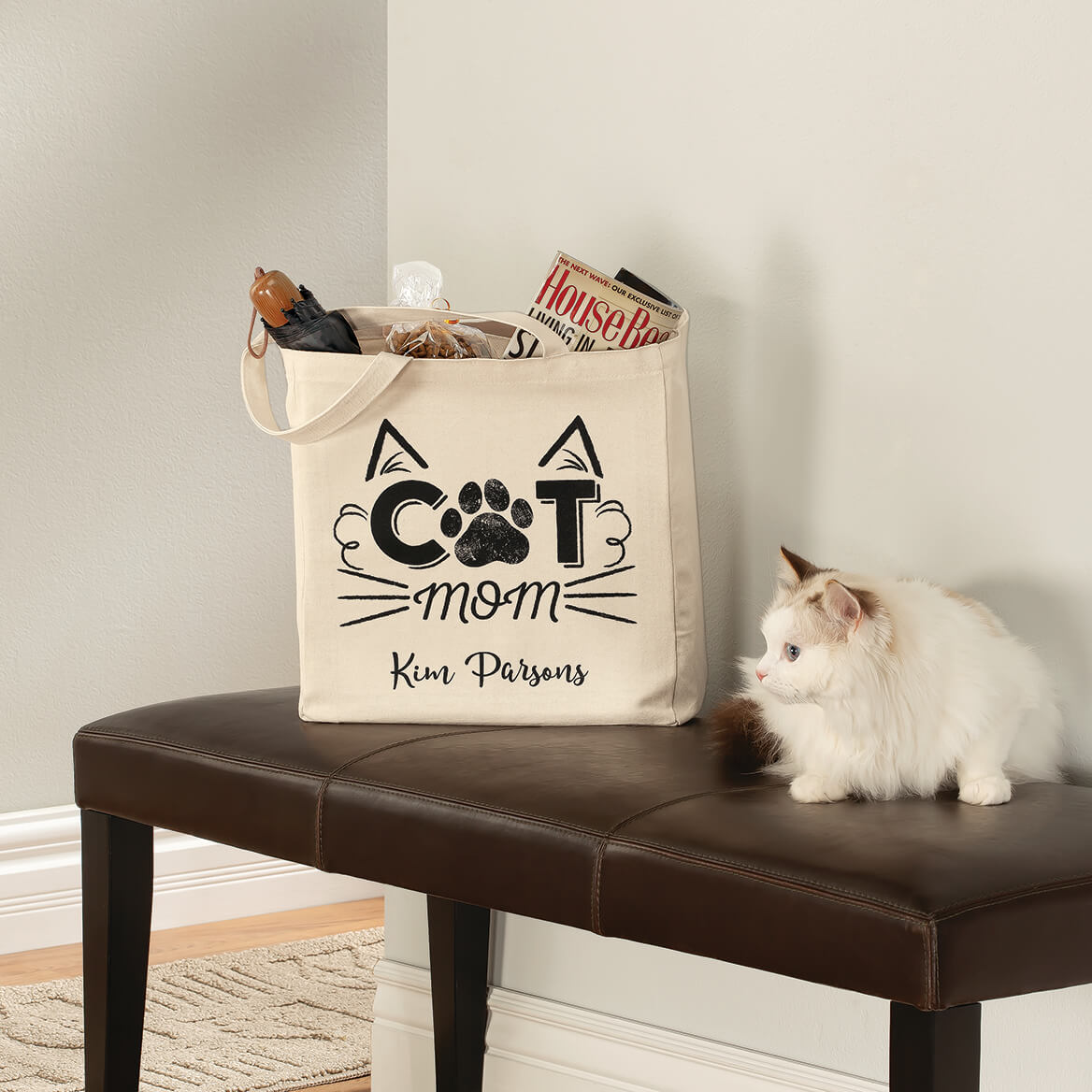 Personalized Cat Mom Tote-369349