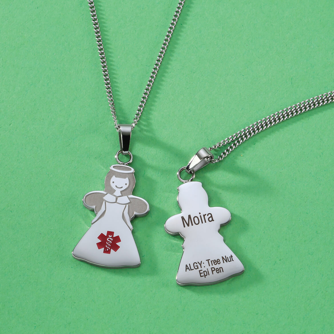 Personalized Angel Medical ID Necklace-369370