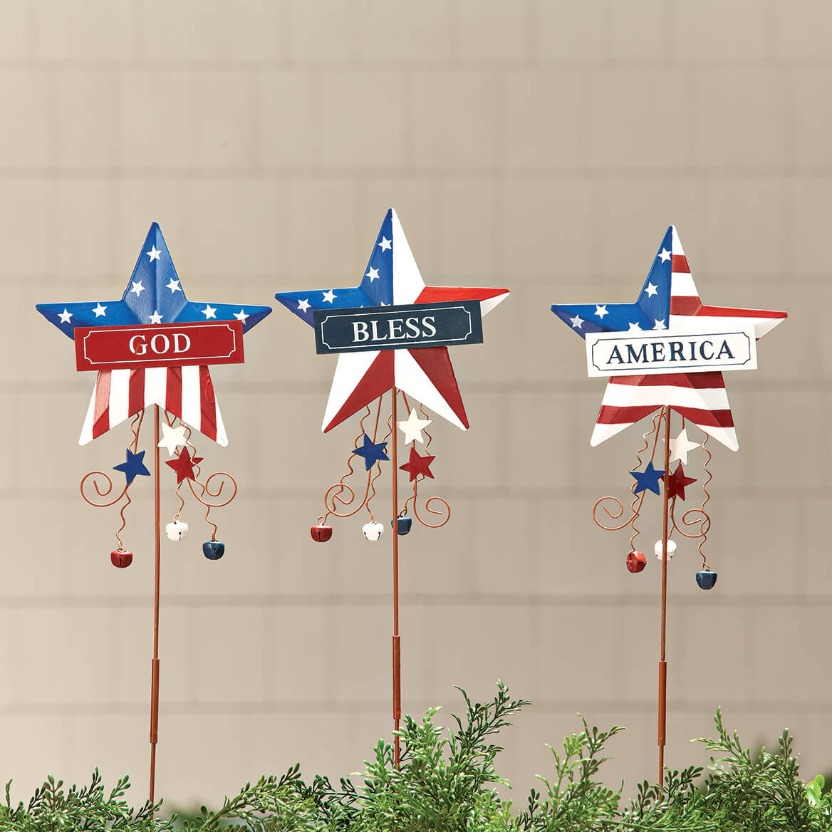 God Bless America Metal Stakes by Holiday Peak™-369425