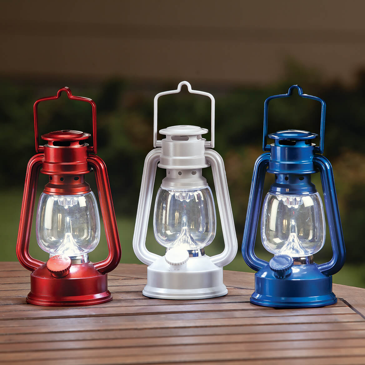 Red, White and Blue Lanterns Set of 3-369431
