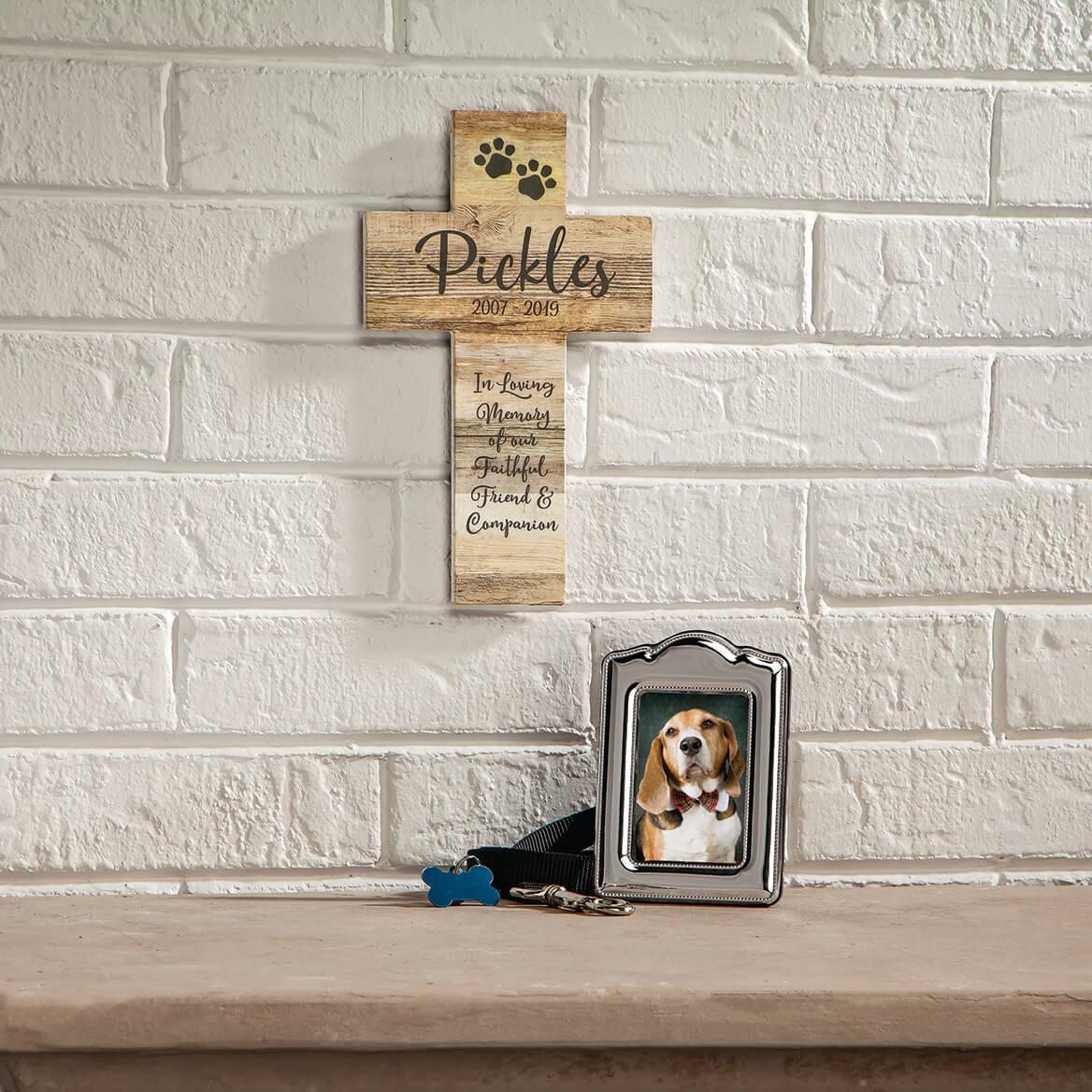 Personalized Rustic Style Cross, Pet Memorial-369433
