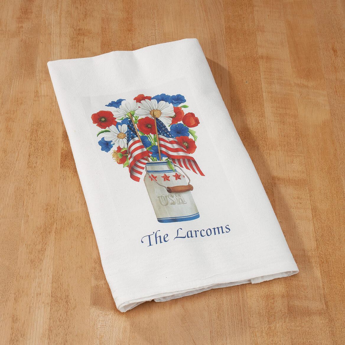 Personalized Patriotic Flour Sack Towel-369478
