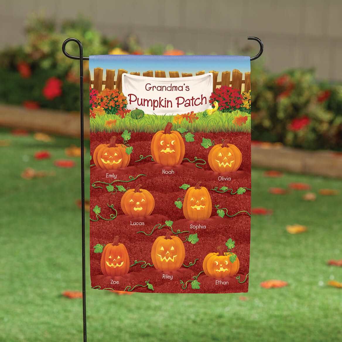 Personalized Pumpkin Patch Garden Flag-369484