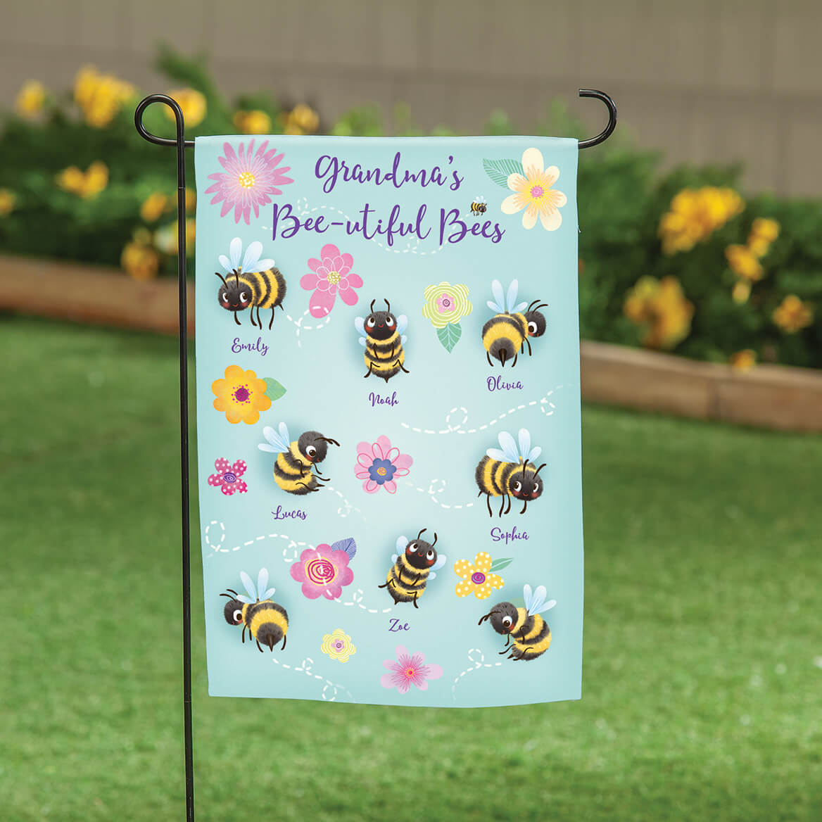 Personalized Beautiful Bees Garden Flag-369489