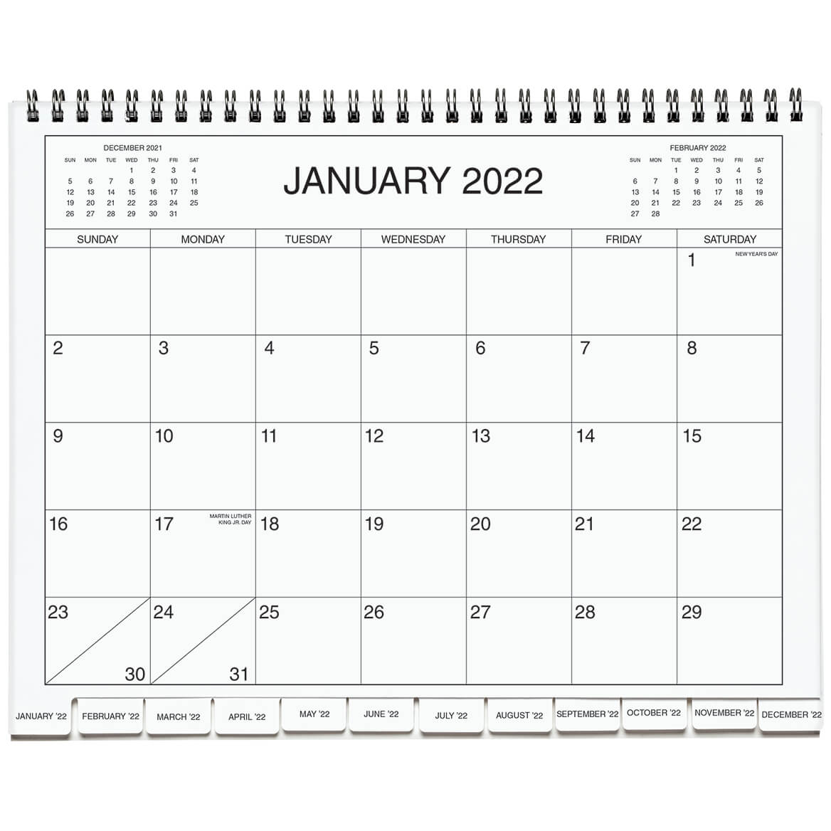 5 Year Calendar Diary 2022 2026 Blue-369609