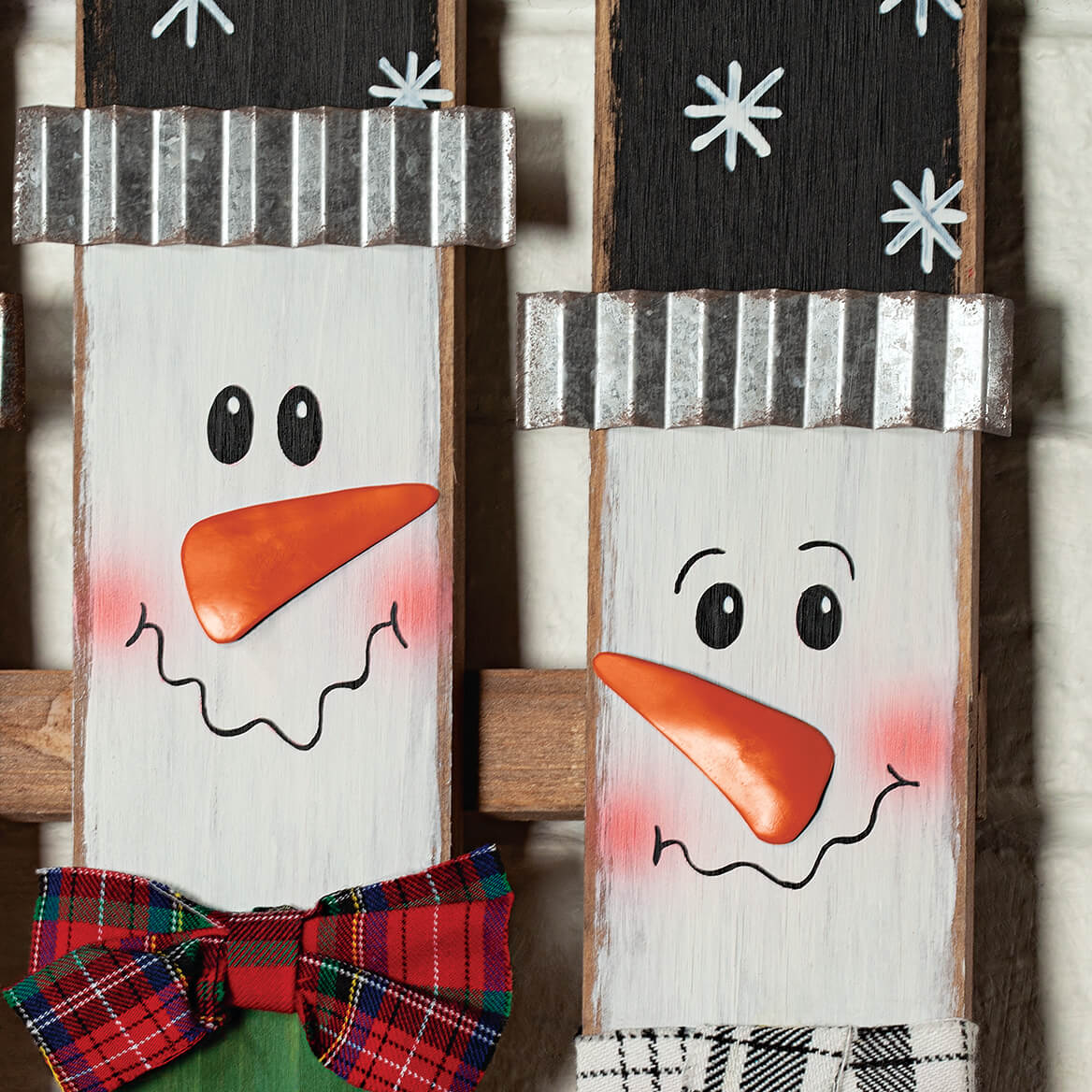 Snowman Fence Yard Stake by Fox River™ Creations-369642