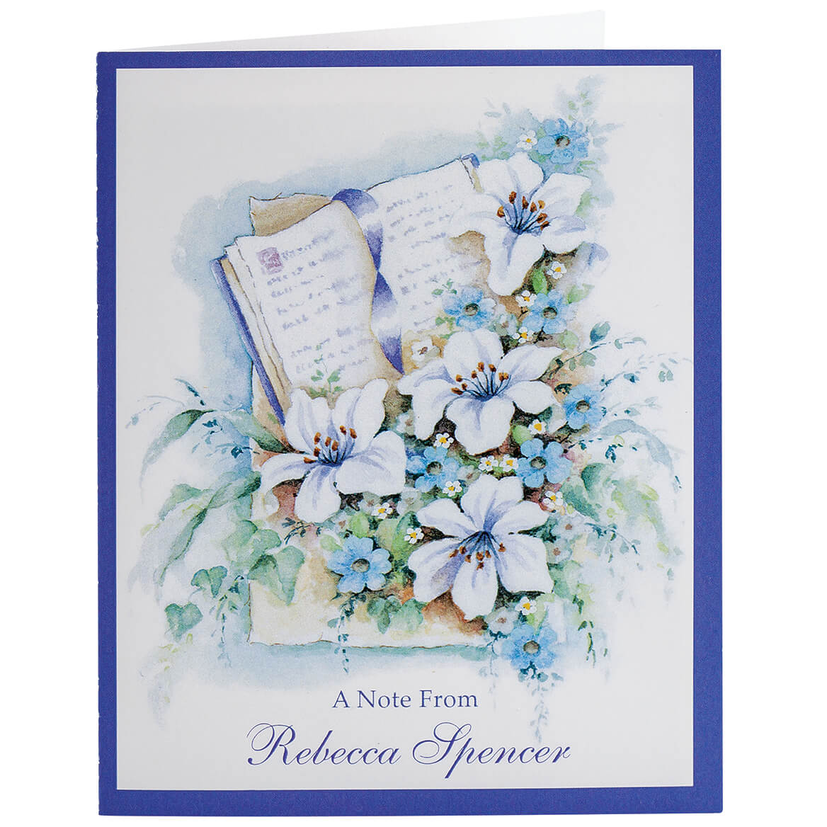 Personalized Bible with Flowers Note Card Set of 20-369750
