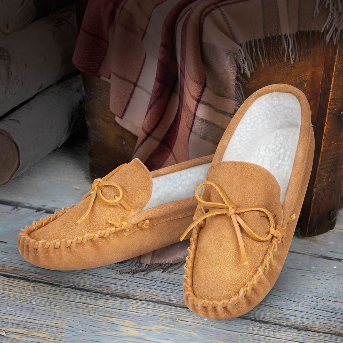 Genuine Leather Moccasins Mens-370000