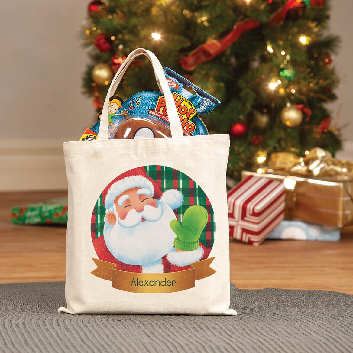 Personalized Childrens Santa Tote-370316