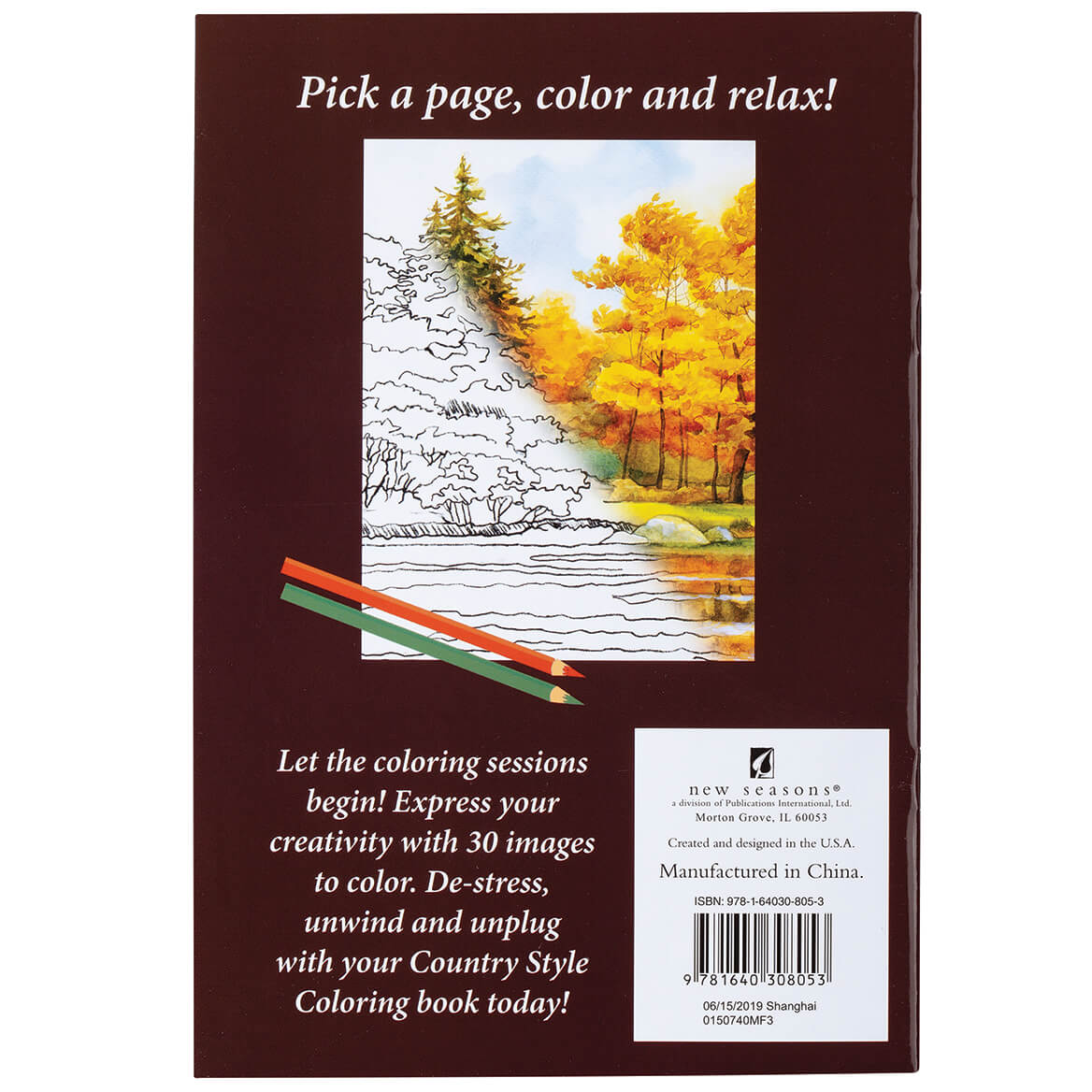 Country Style Coloring Books Set of 5-370346