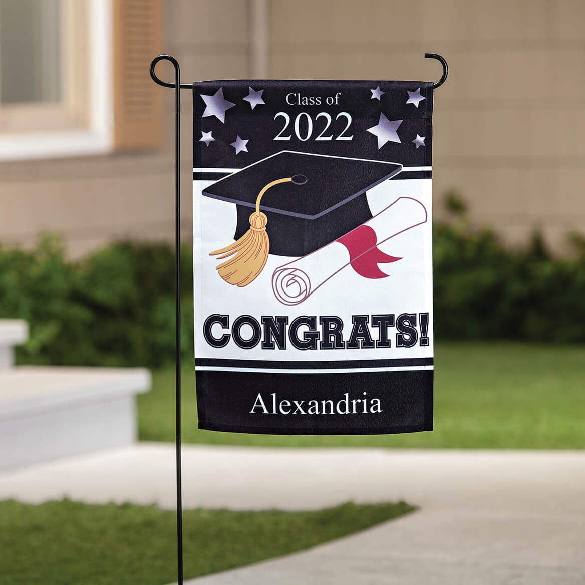 Personalized Graduation Garden Flag-370353