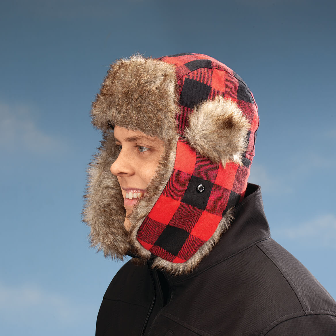 Buffalo Plaid Bomber Hat-370364