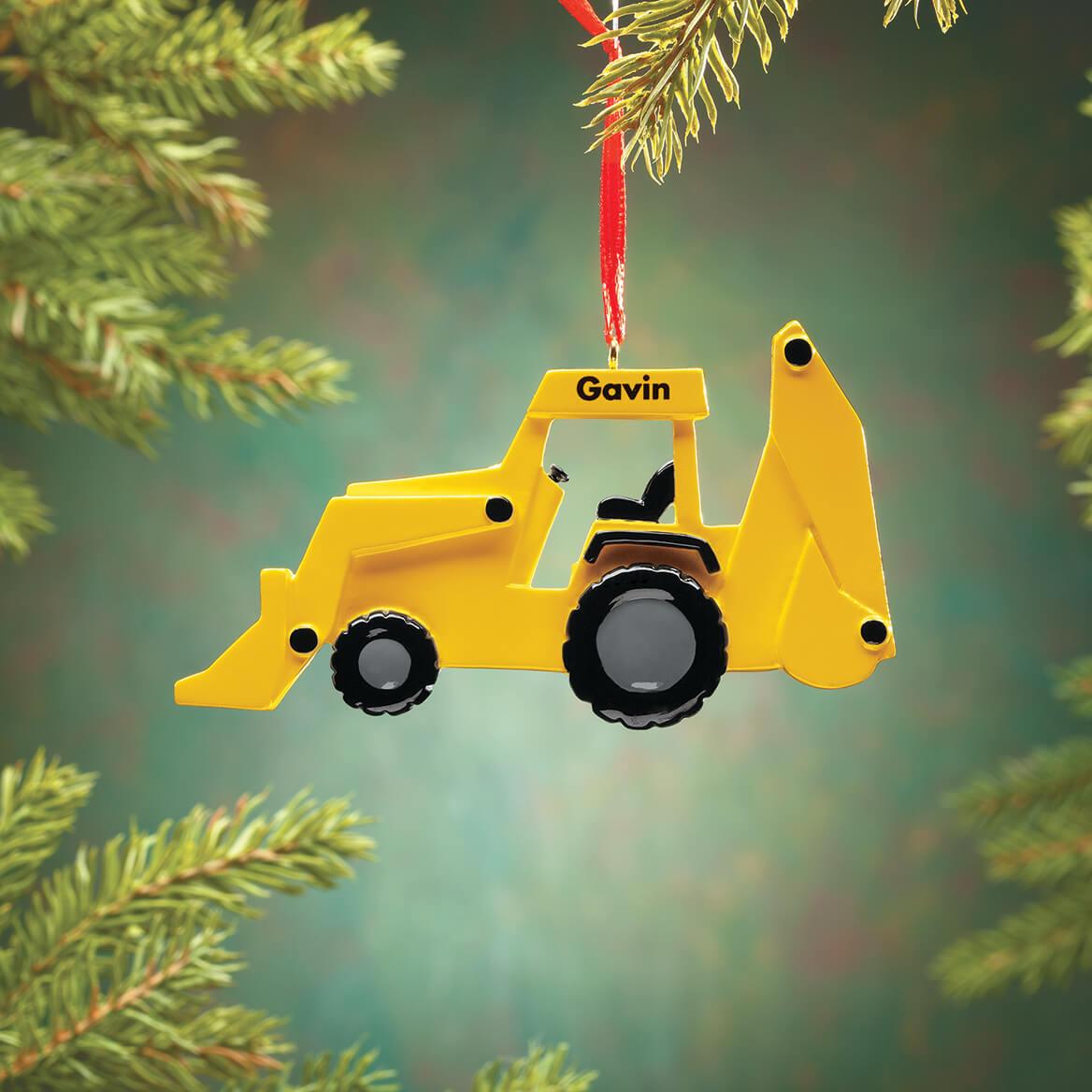 Personalized Bulldozer Ornament-370421