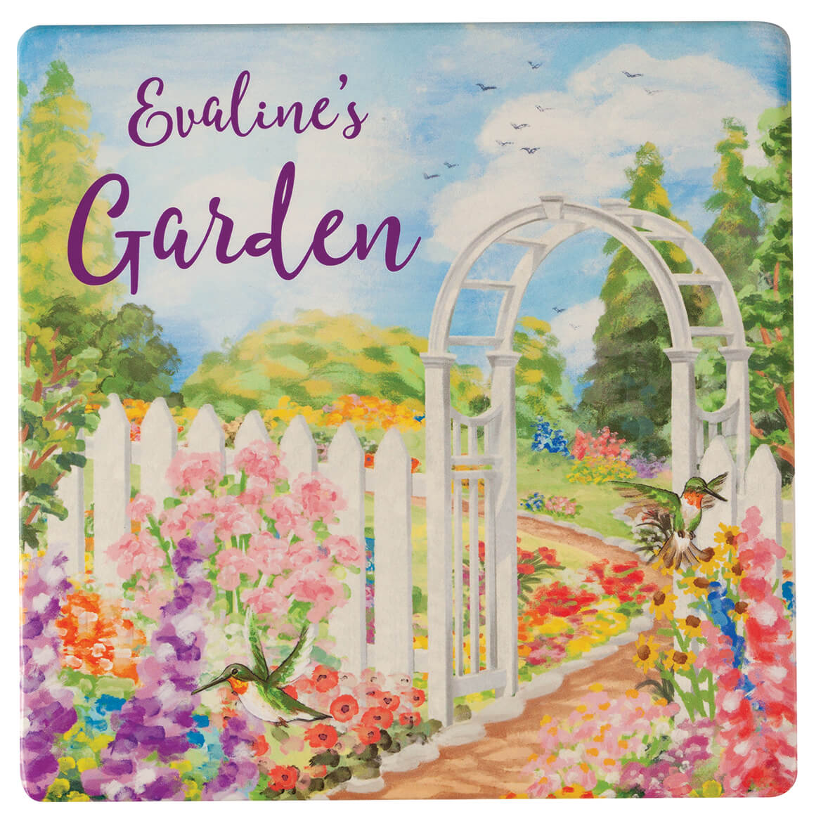 Personalized Garden Plaque with Metal Stake-370445