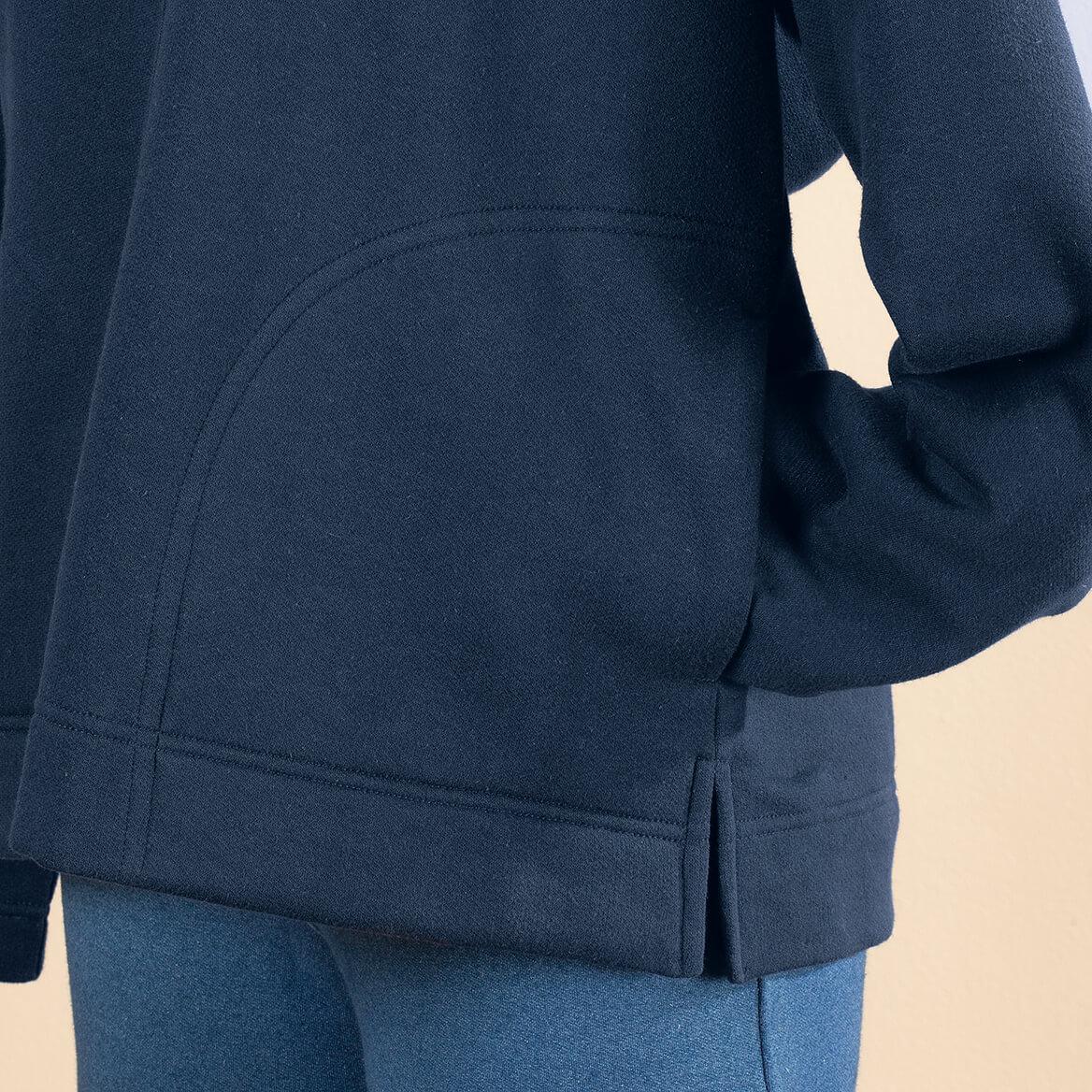 Snap Front Sweatshirt Cardigan by Sawyer Creek™-370495
