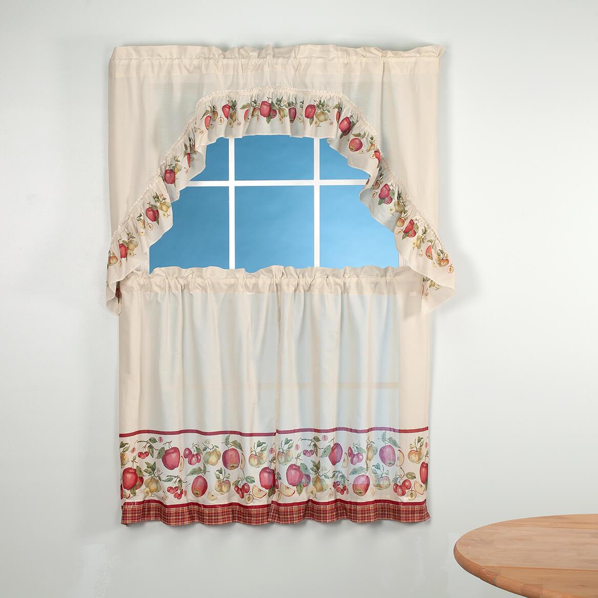 Apple Tier Curtain 3 Piece Set-370511