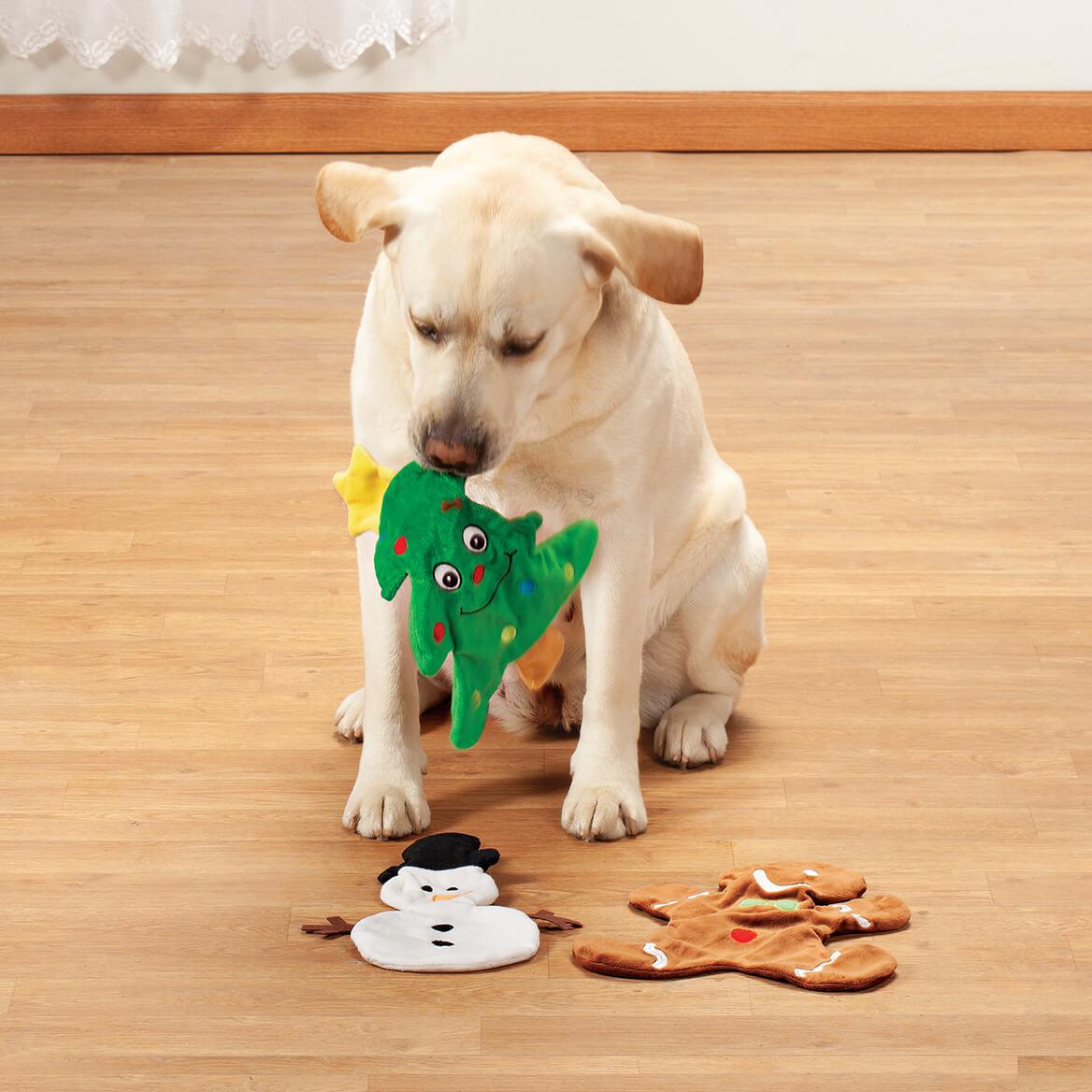 Stuffing Free Christmas Dog Toys, Set of 3-370667