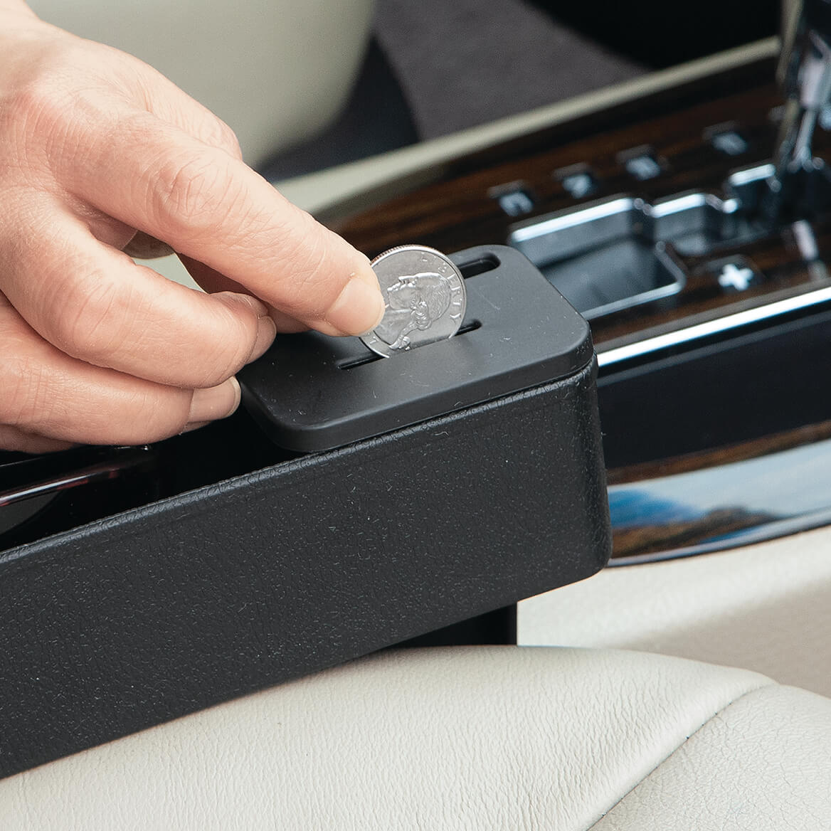 Car Seat Gap Filler with Coin Collector-370690