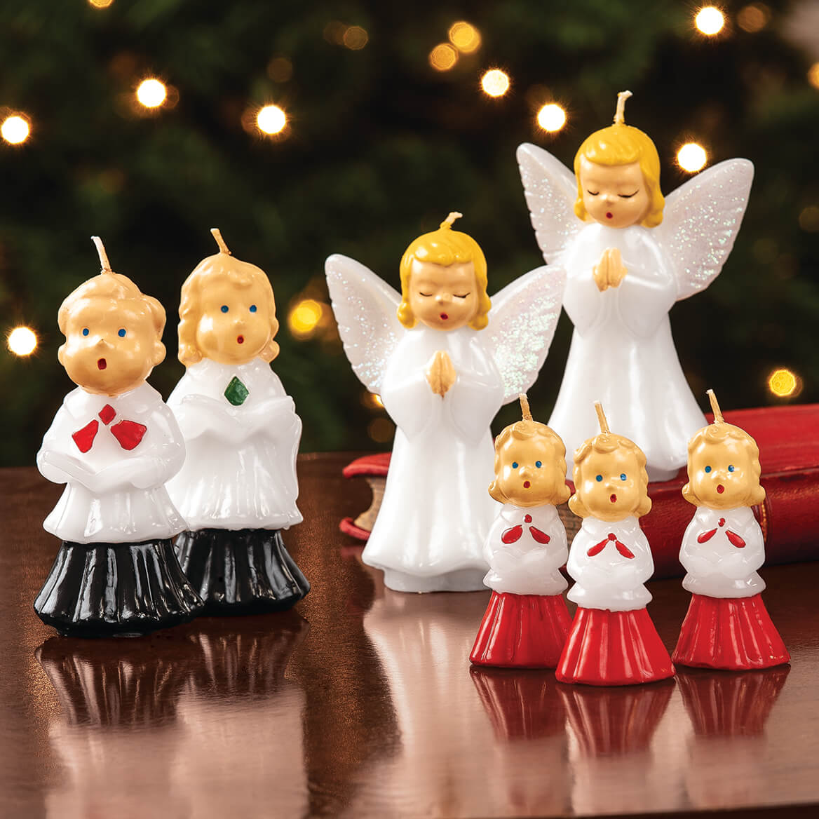 Vintage Christmas Caroler Candle Pair-370729