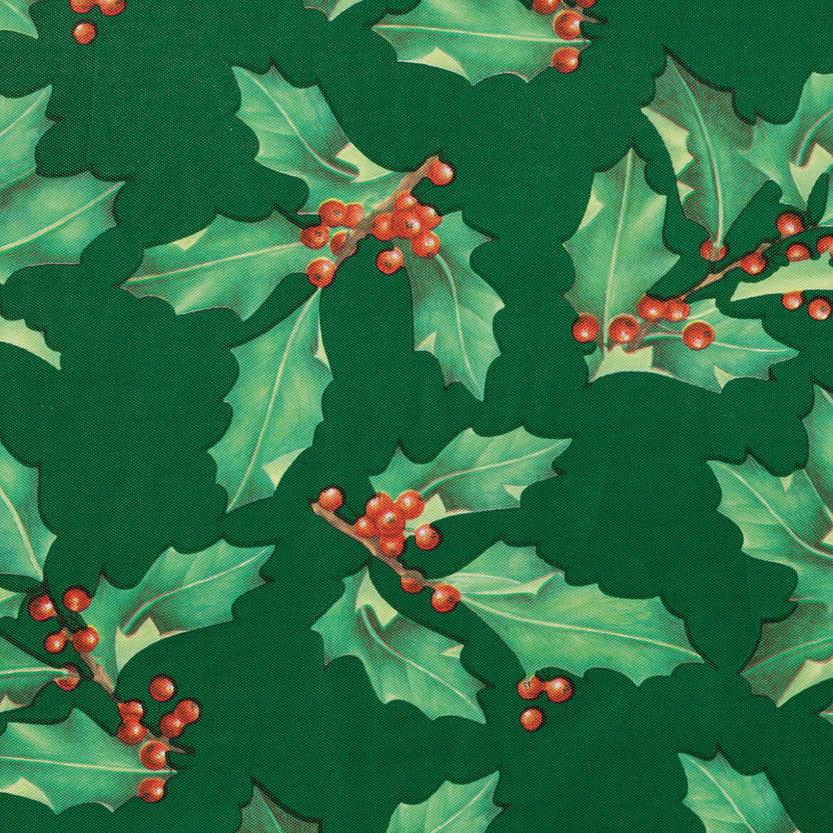 Holly Holiday Vinyl Elasticized Tablecover-370741