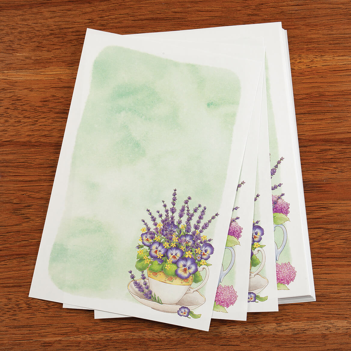 Lavendar Floral Stationery Set-370830