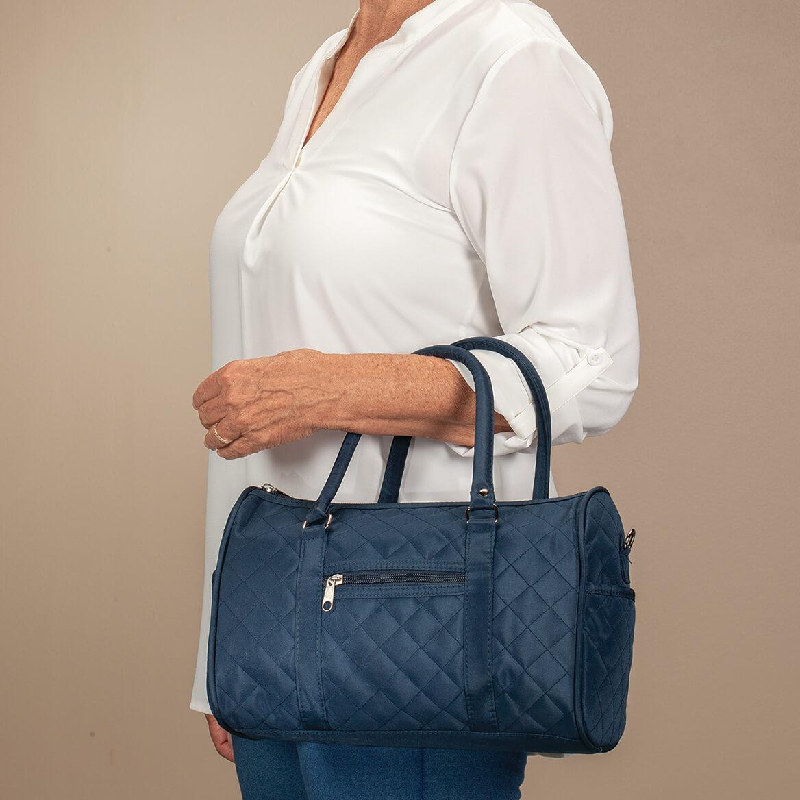 Quilted Barrel Handbag-370859