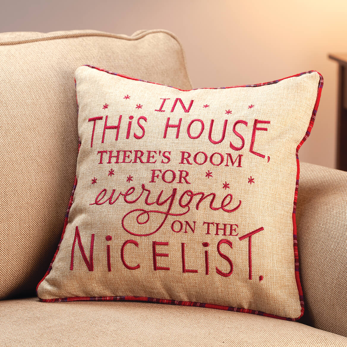 Holiday Nice List Decorative Cover-370866