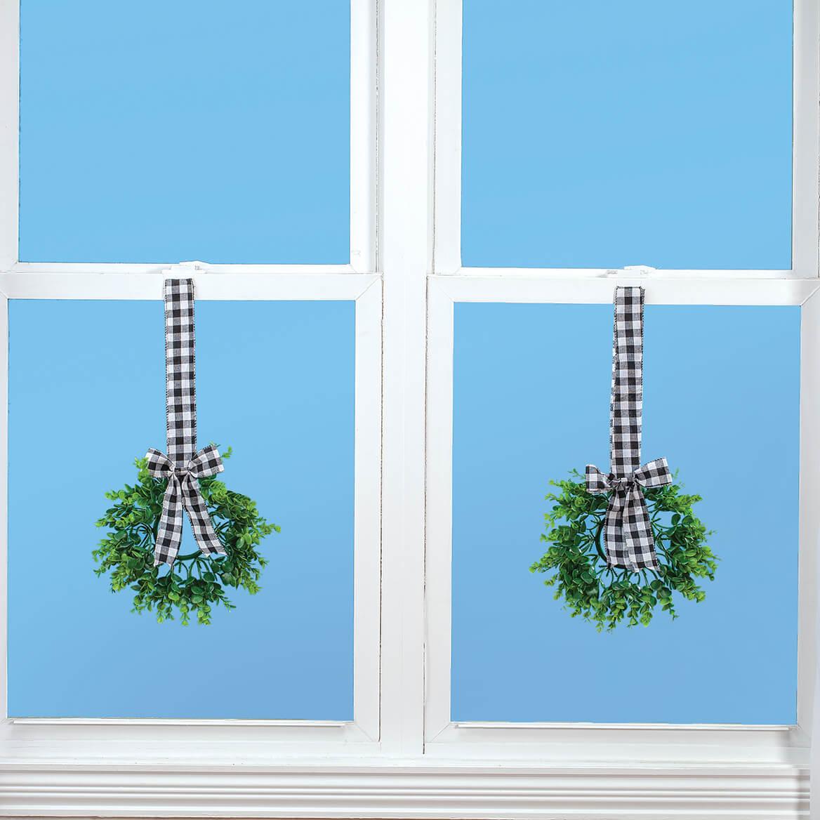Indoor Window Wreaths, Set of 2-370869