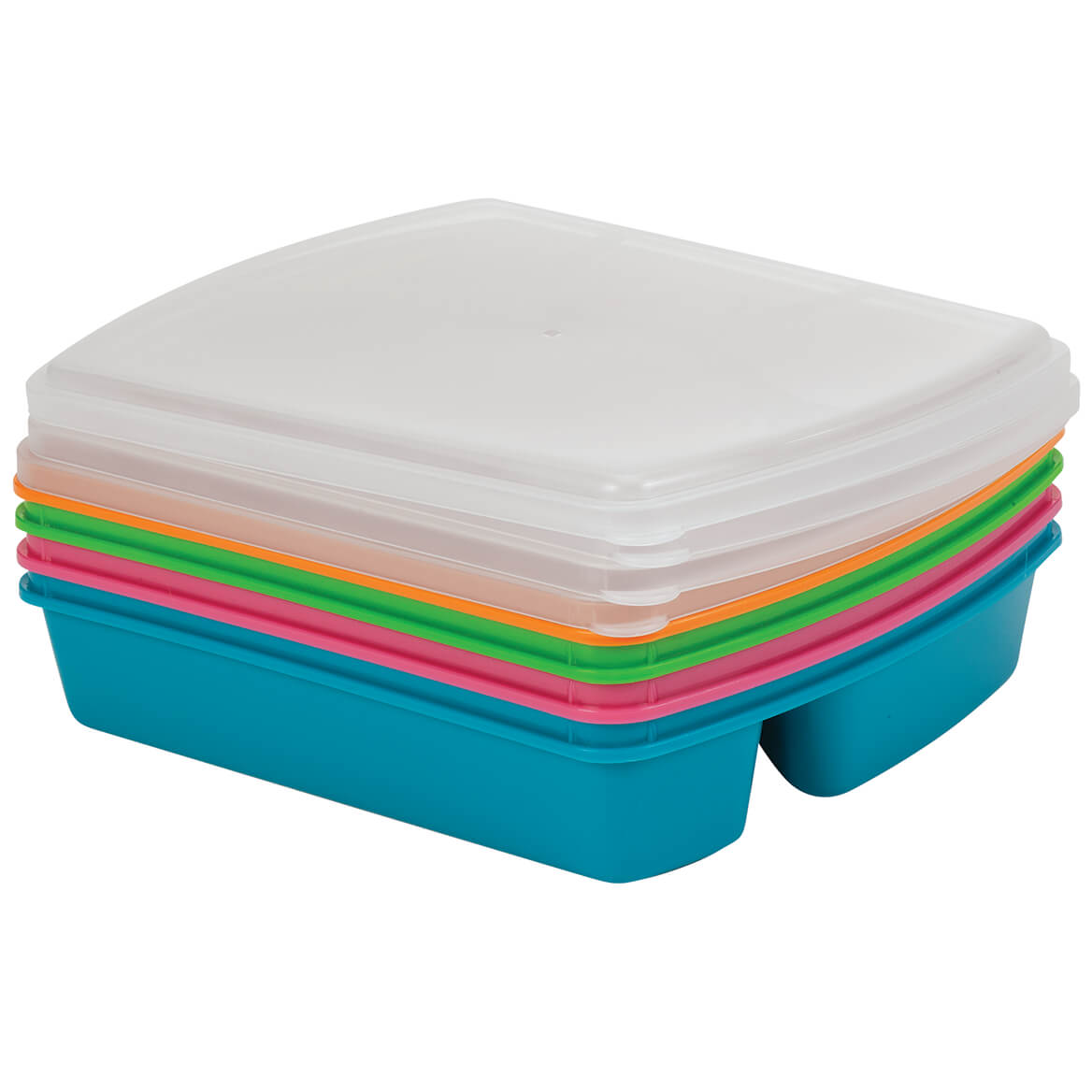 4-Section Microwave Tray with Lid, Set of 4-370894