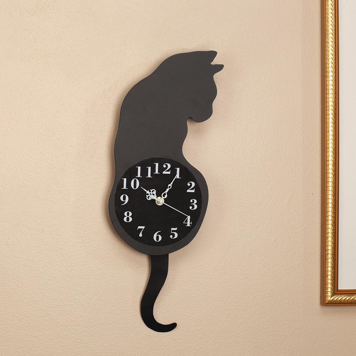 Cat Pendulum Wall Clock-370935