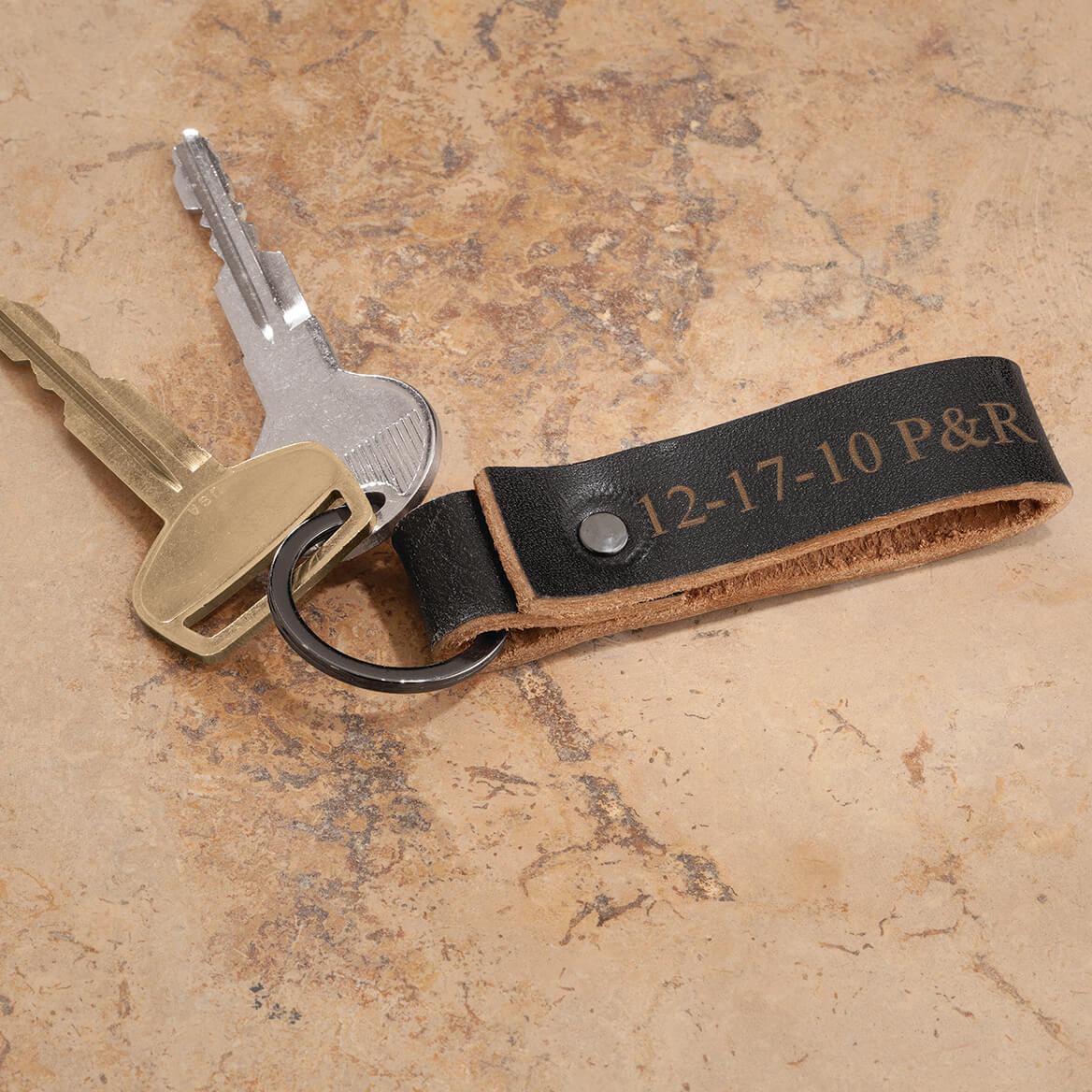 Personalized Leather Key FOB-370992