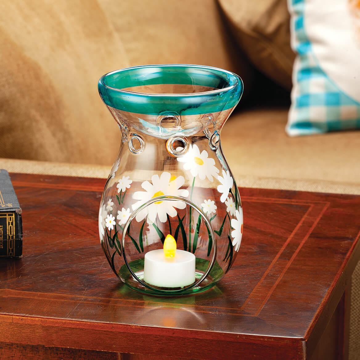 Spring Daisy Glass Tealight Holder-371196