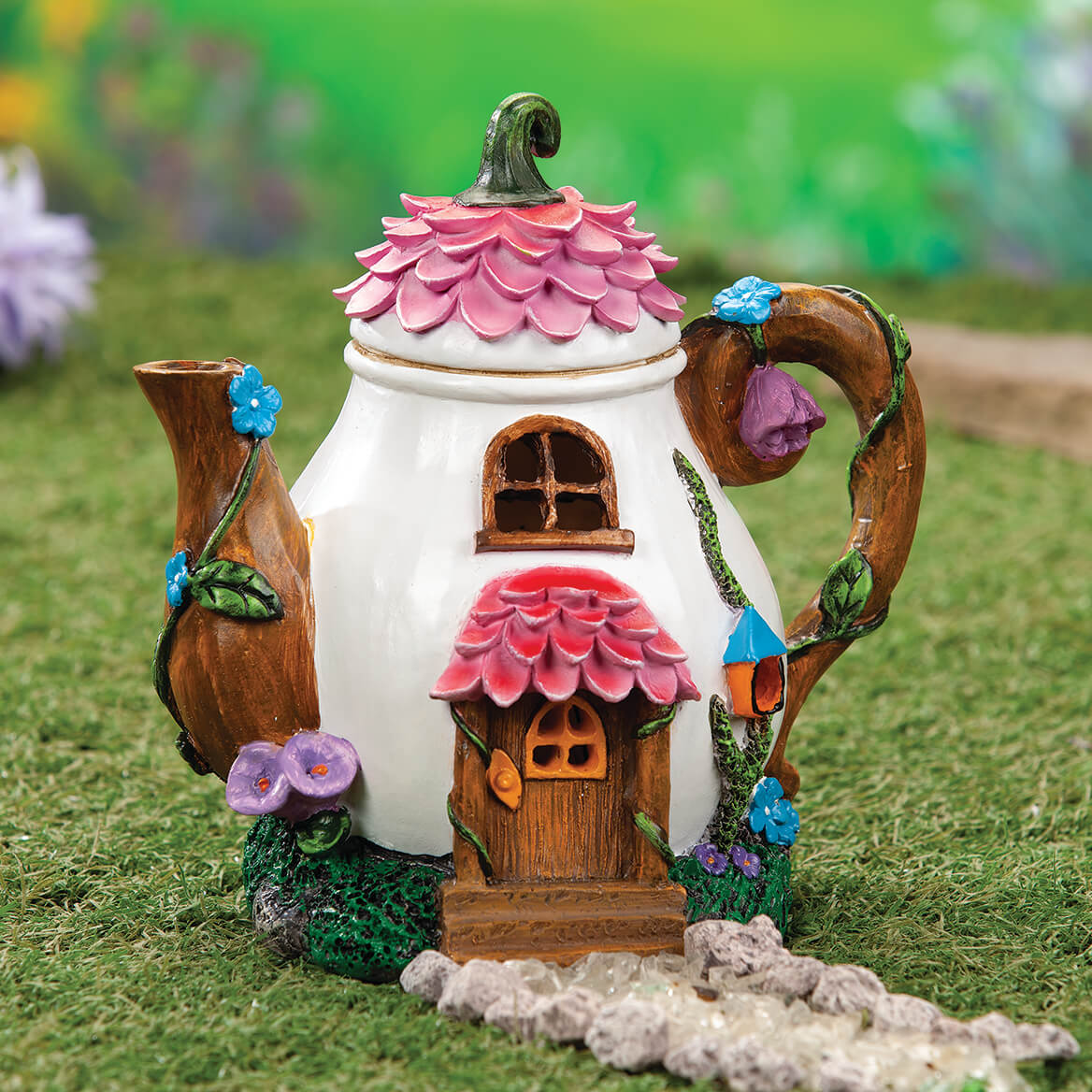 Resin Solar Teapot Statue by Fox River™ Creations-371209