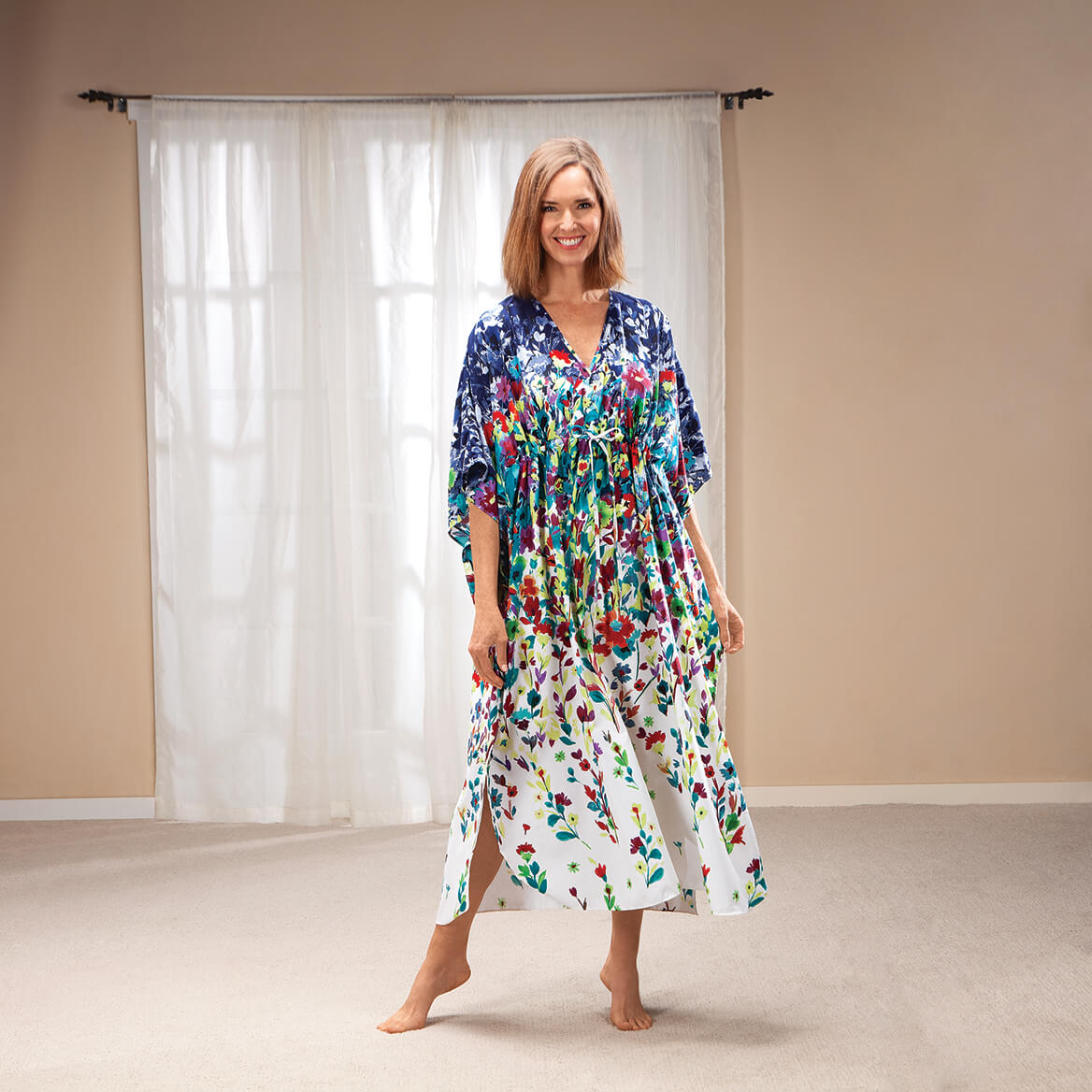 Ombre Garden Party Long Caftan-371346