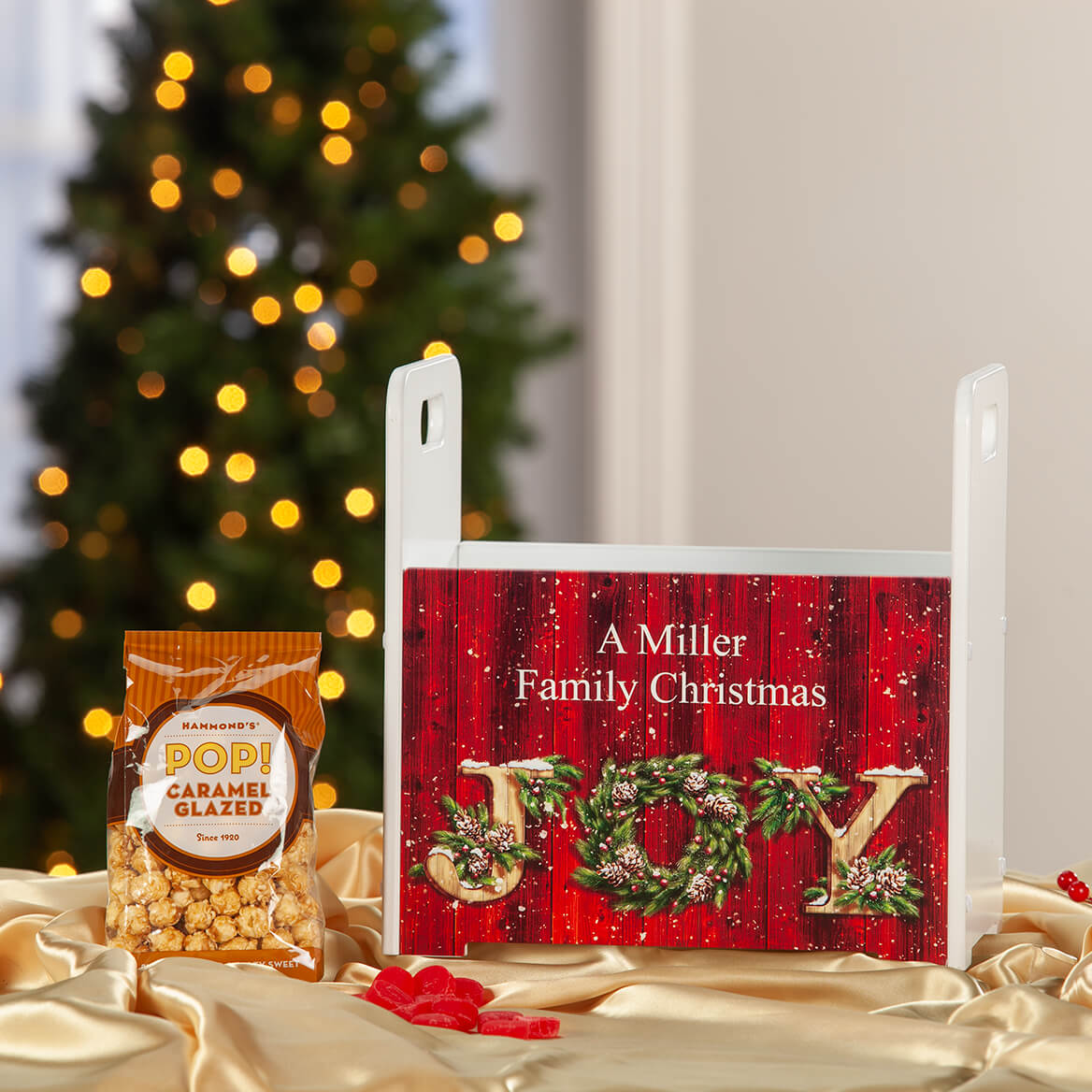 Personalized Christmas JOY Tall Caddy-371429