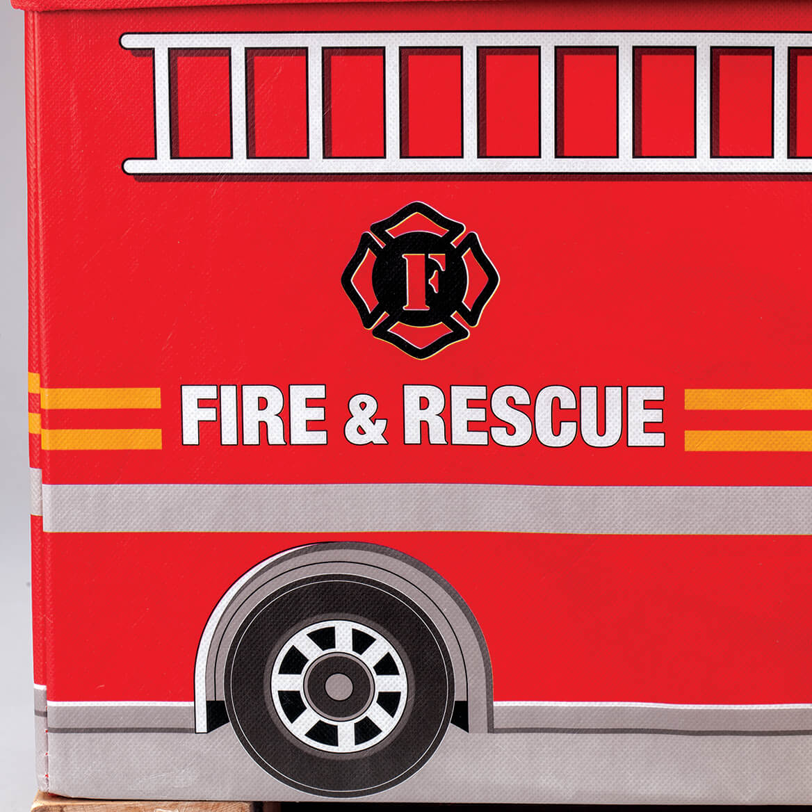 Personalized Fire Truck Storage Box-371454
