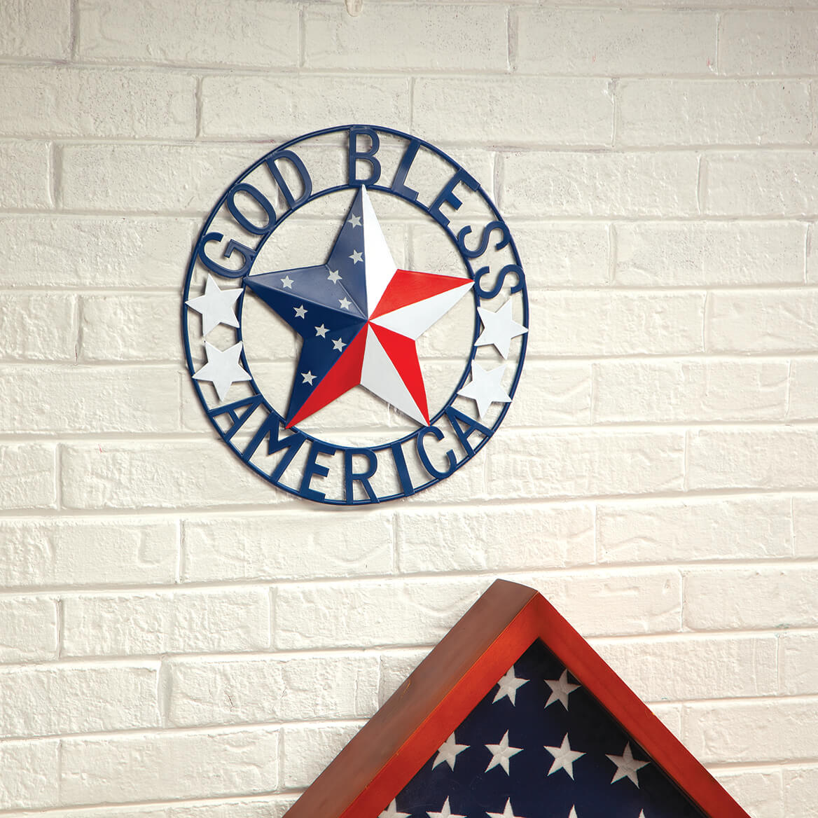 "Metal ""God Bless America"" Wall Hanging by Fox River™ Creations-371457"