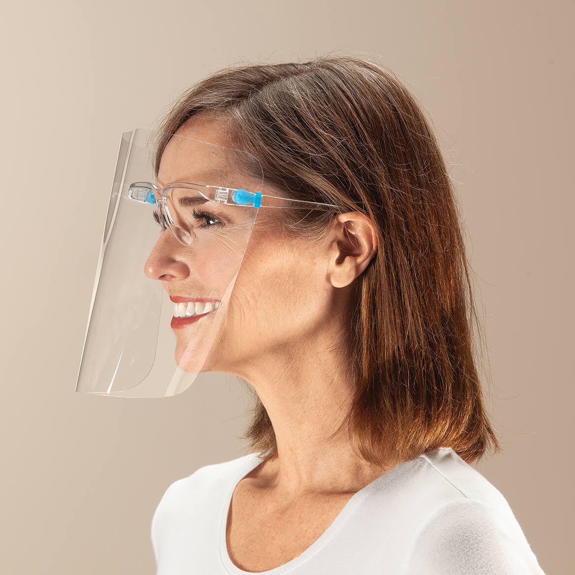 Anti-Fog Protective Face Shield with Glasses-371584