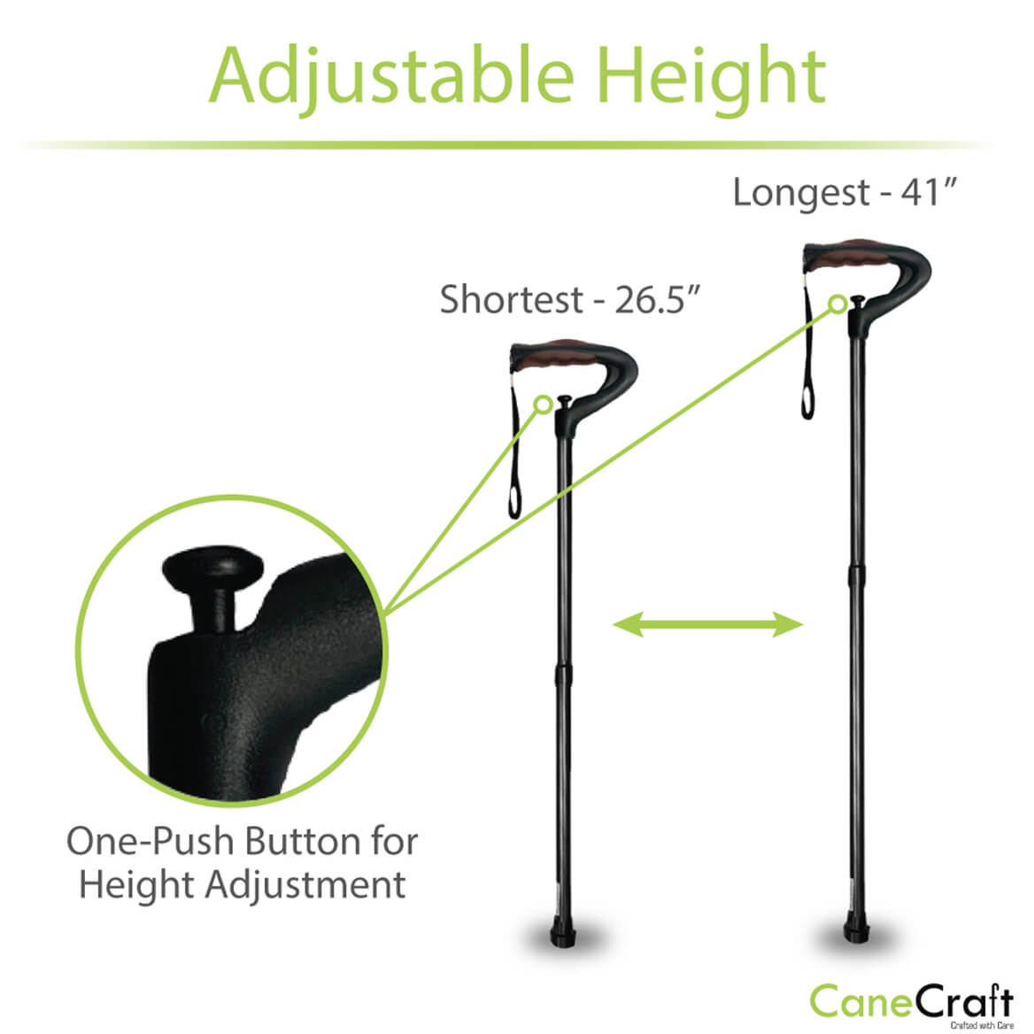 One-Push Button Cane-371602
