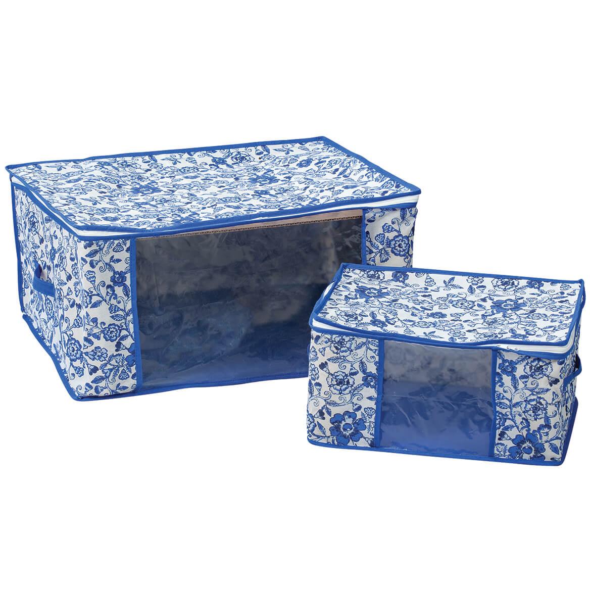 Blue Print Storage Bags, Set of 2-371691