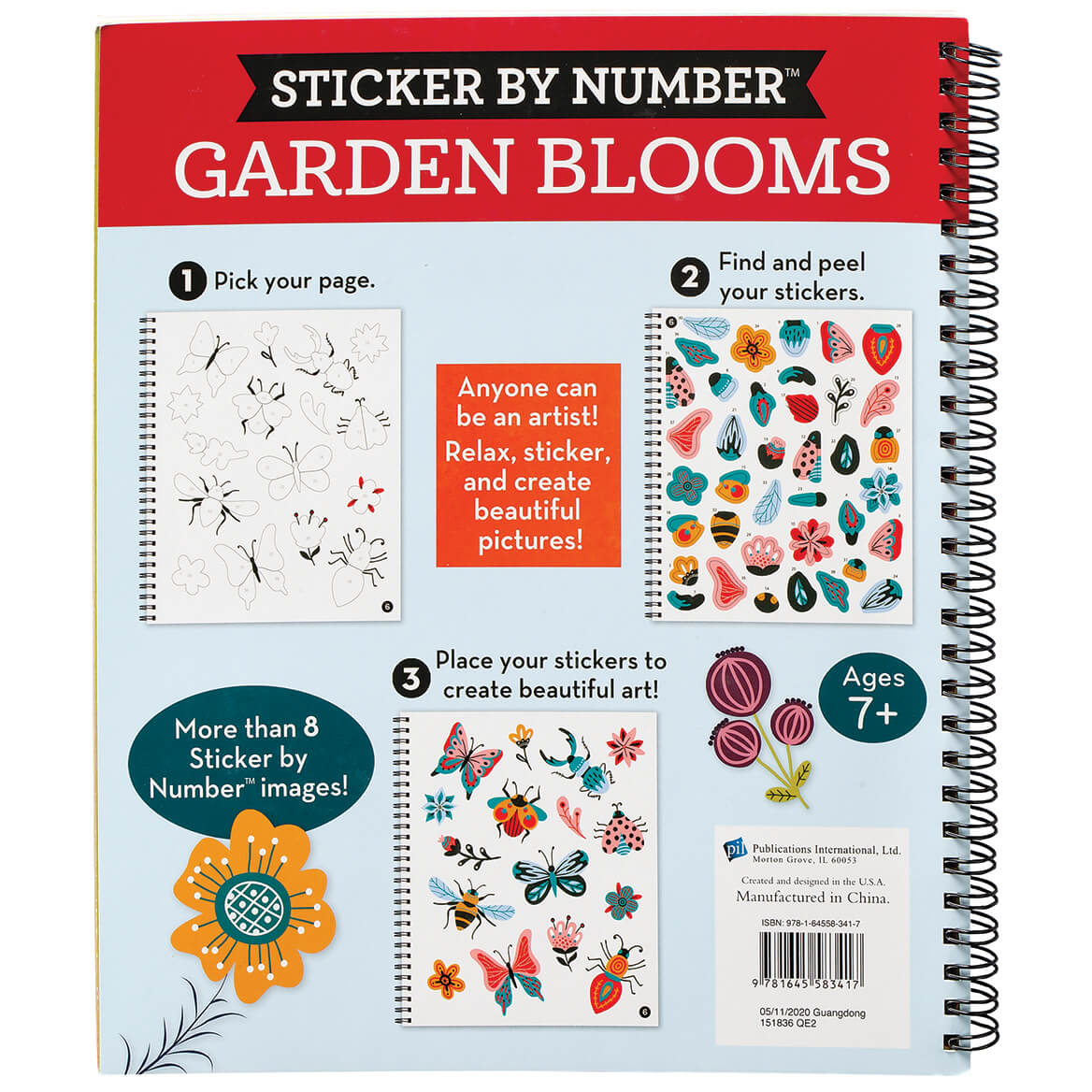 Brain Games® Sticker By Number Garden Blooms-371700