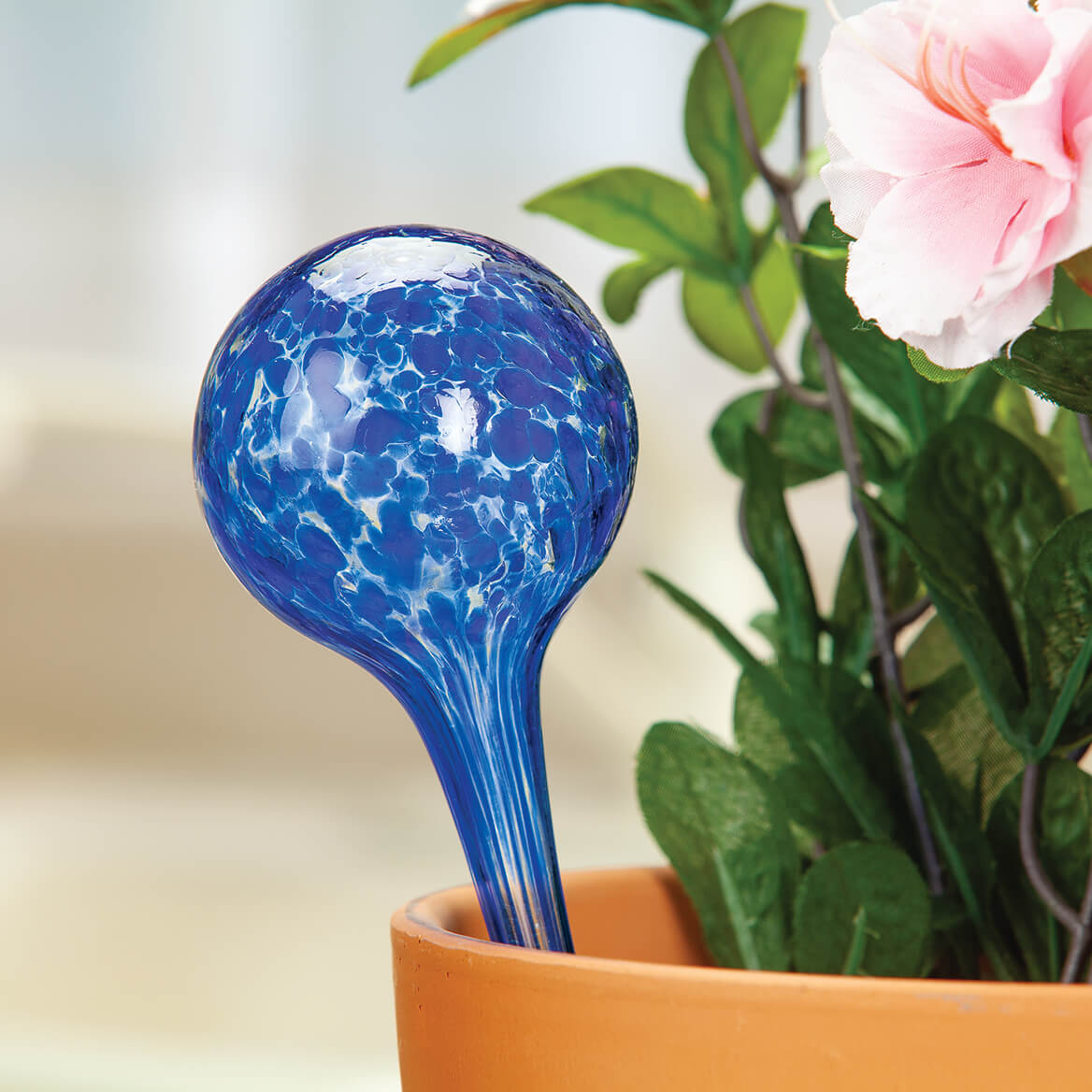 Glass Watering Globes, Set of 3-371713