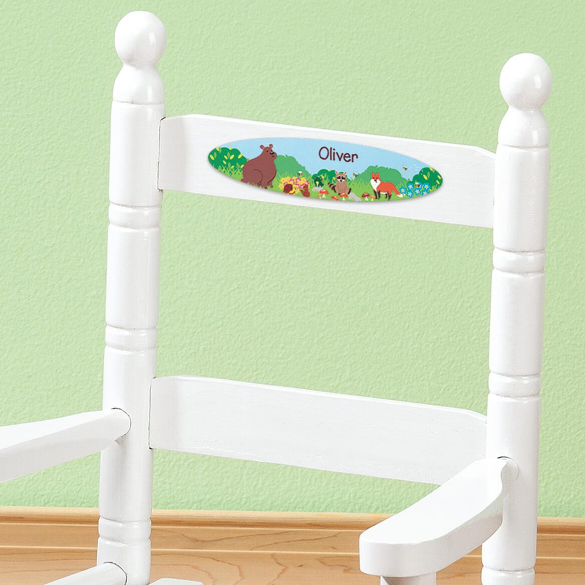 Personalized Woodland Animals Children's Rocking Chair-371717